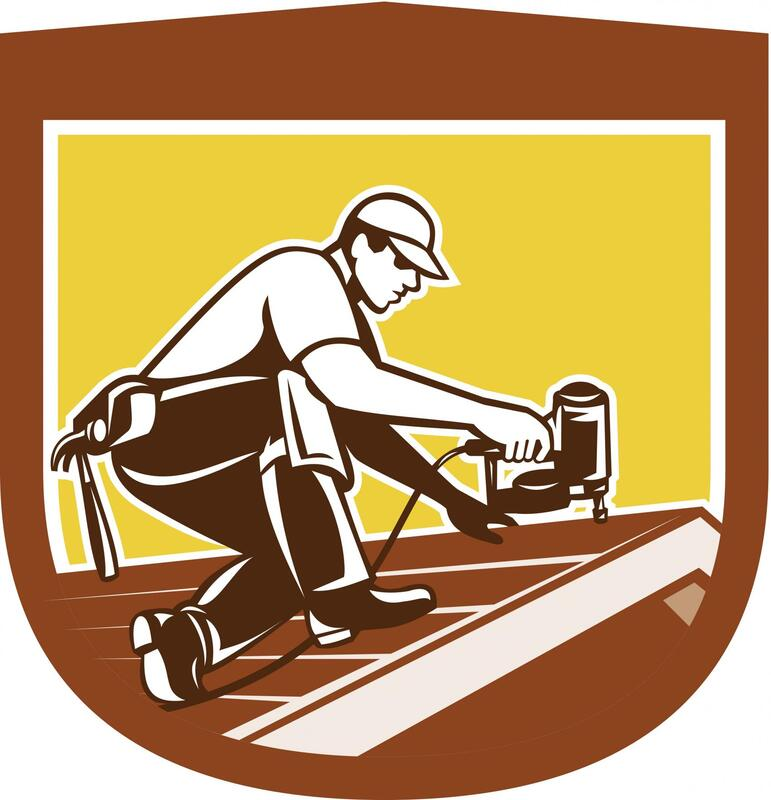 professional roofer roofing services logo